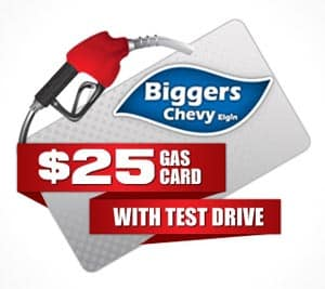 Biggers Chevy 25 Gas Card