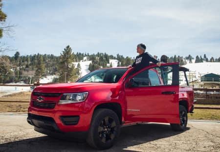 Fox Head Pro-surfer Damien Hobgood helped reveal the 2016 Chevrolet Colorado Shoreline