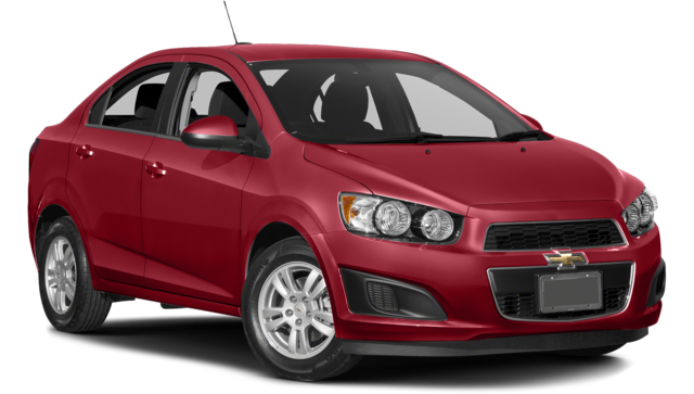 The 2016 Chevy Sonic Next to the 2016 Kia Rio