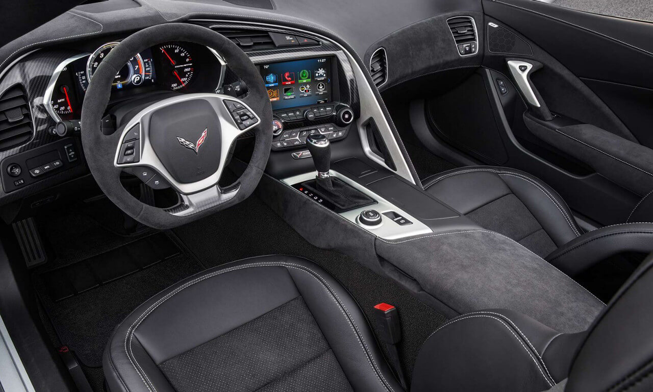 2017 Chevy Corvette interior