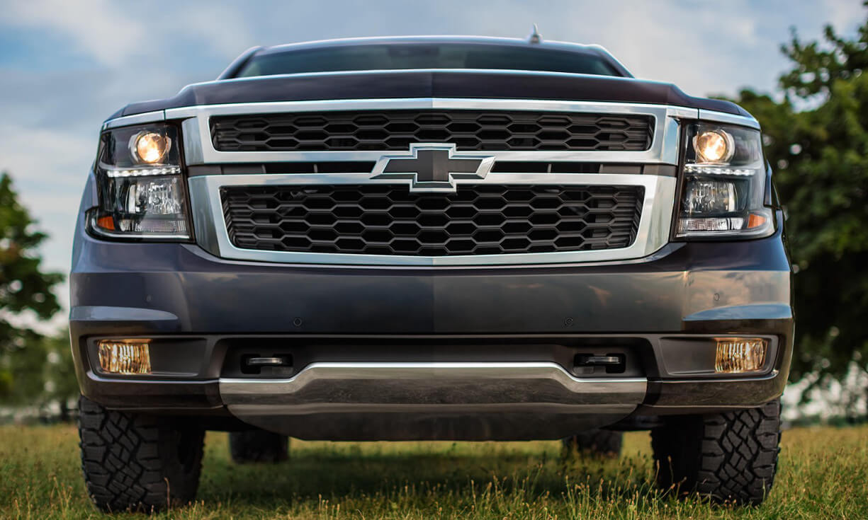 front grille of 2017 Chevrolet Tahoe