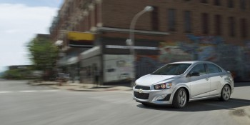 2016 Chevy Sonic on road