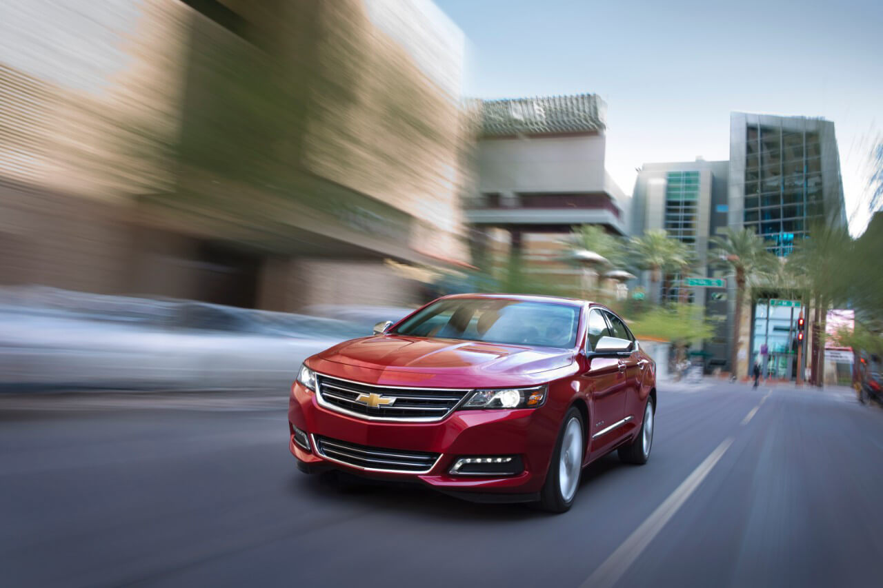 2017 Chevrolet Impala on road