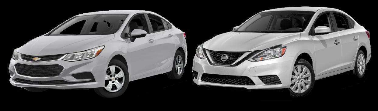 Chevrolet Cruze y Nissan Sentra
