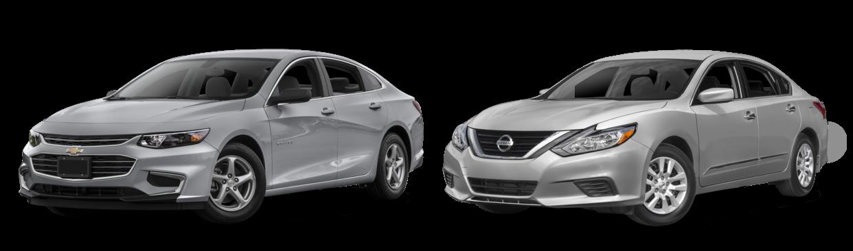 Chevrolet Malibu y Nissan Altima
