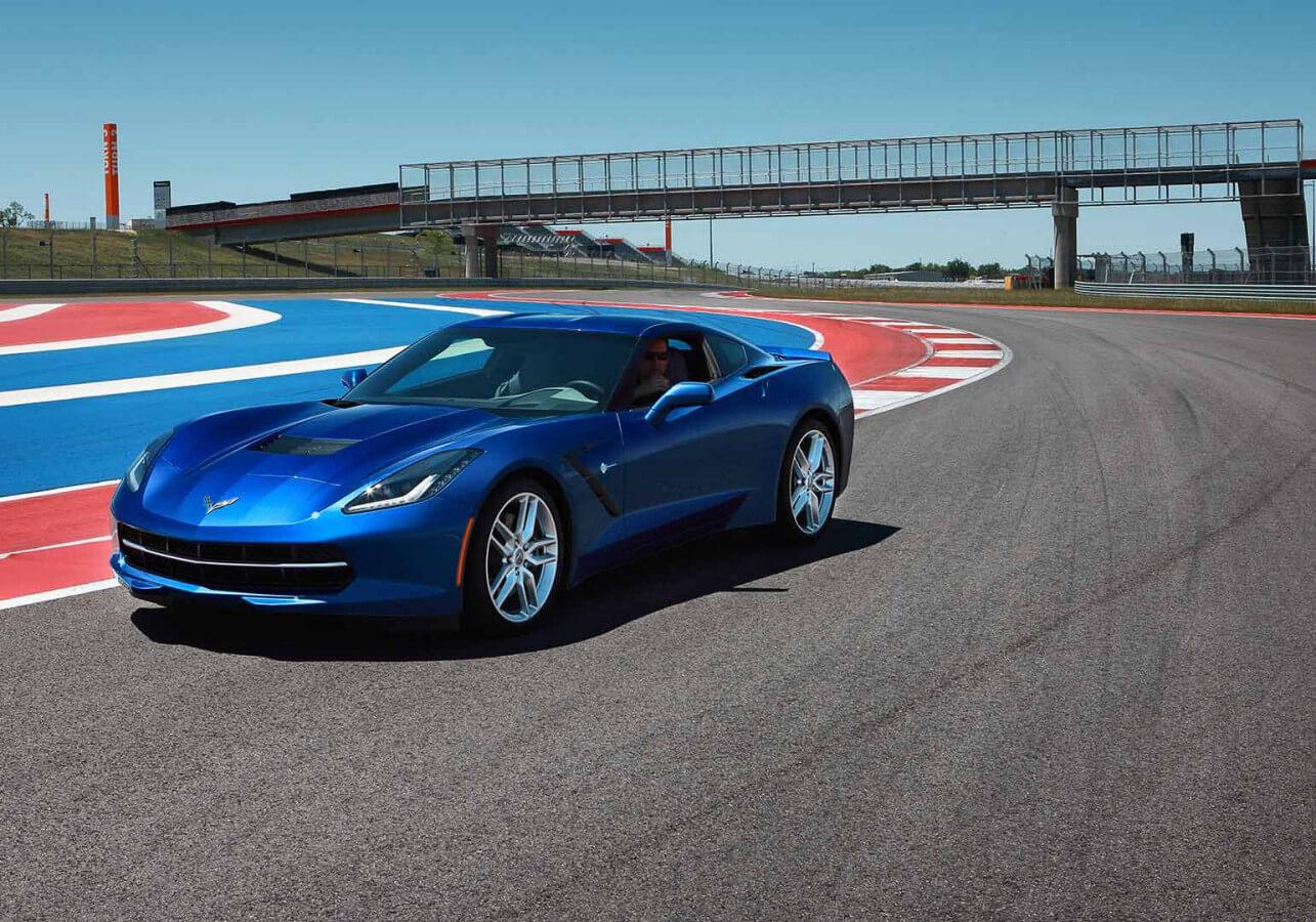 Chevrolet Corvette on track