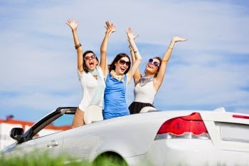 girls in a convertible