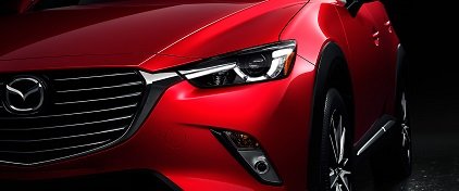 2016-Mazda-CX-3 Soul Red Exterior close up front