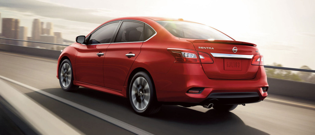 2016 Nissan Sentra in red