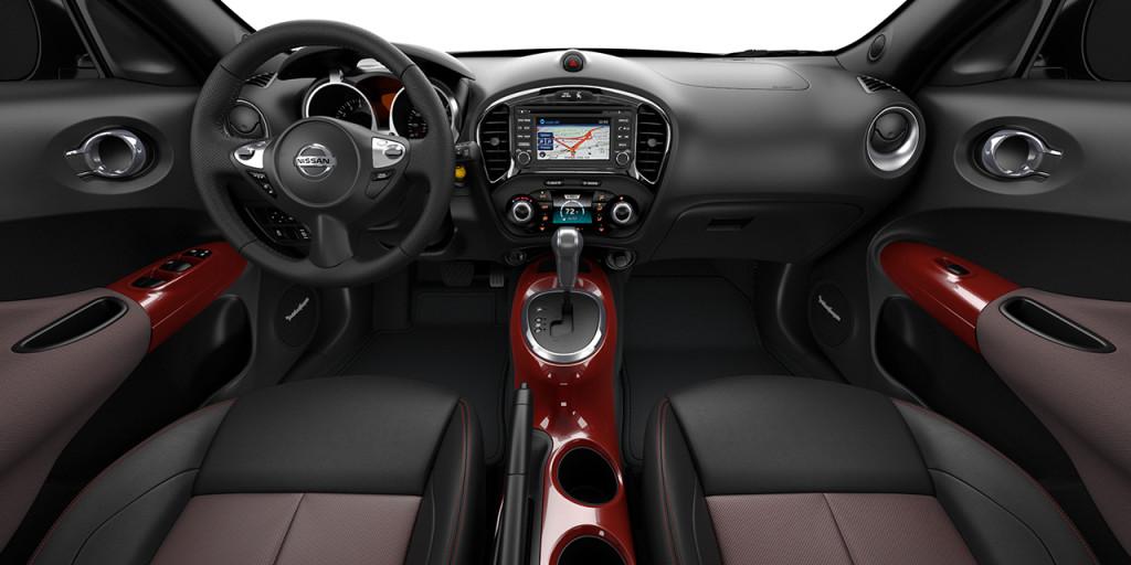 2017 nissan juke interior black red leather