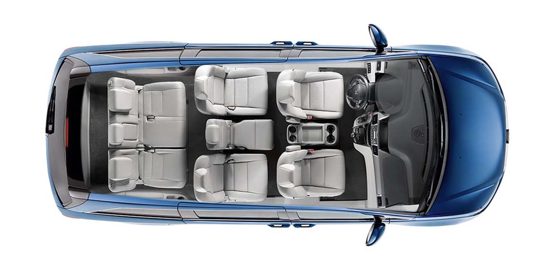 Honda Odyssey Seating Capacity >> 2017 Honda Odyssey Cargo Capacity and Seating Configurations