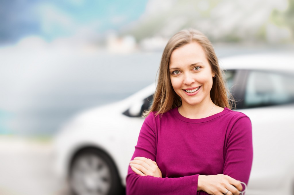 Woman Buying a Used Car