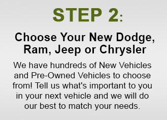 Choose Your New Dodge, Ram, Jeep, Or Chrysler