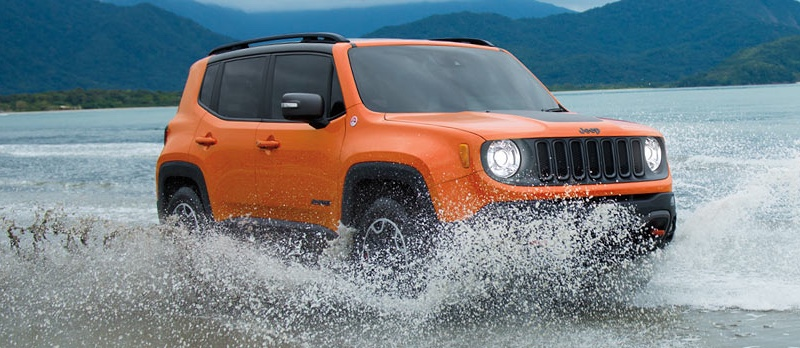 2016 Jeep Renegade orange exterior