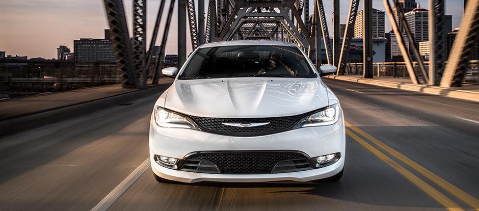 2016 Chrysler 200 on the road