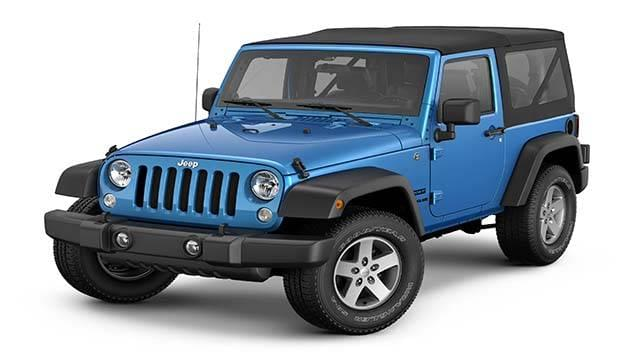 2016 Jeep Wrangler Sport S blue