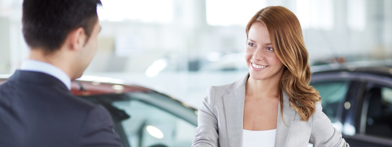 woman getting a vehicle