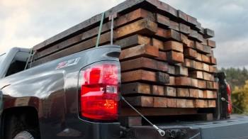 Chevy Silverado Hauling Lumber