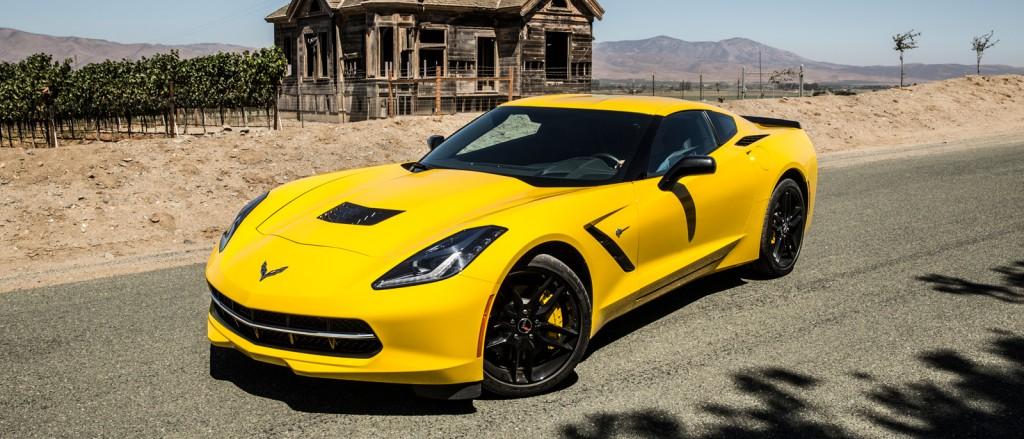 2016 Chevrolet Corvette in yellow