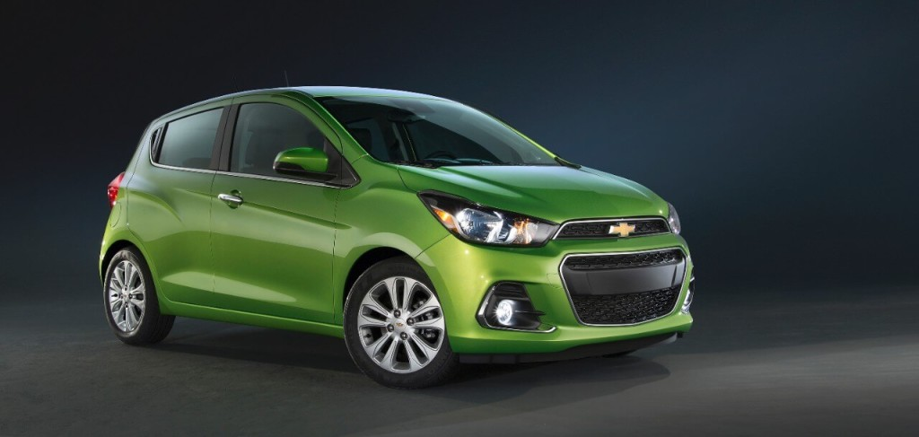 2016 Chevy Spark display