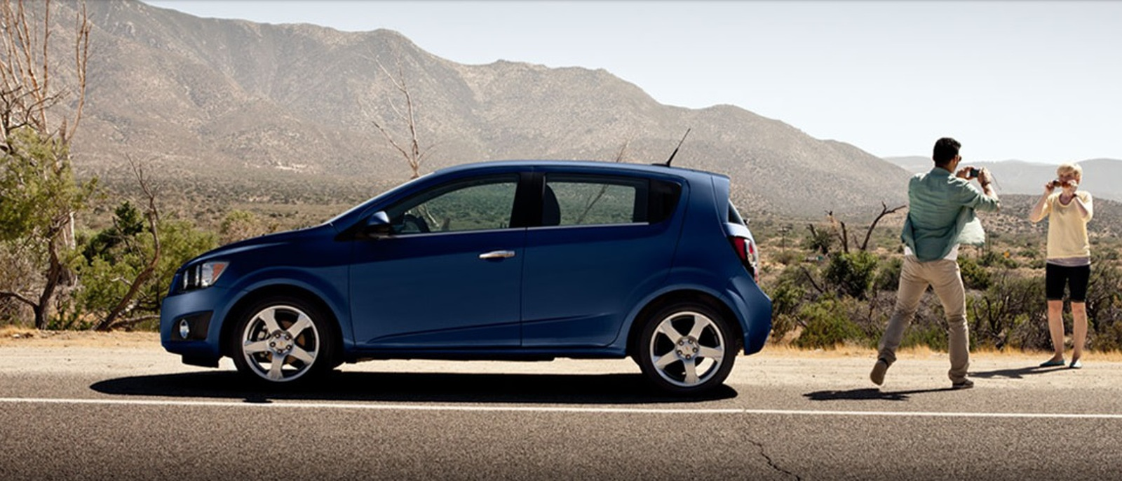 2012 Chevy Sonic Hatchback Blue Profile1