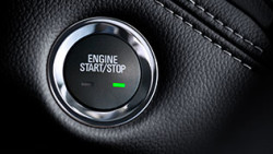 Push button start closeup