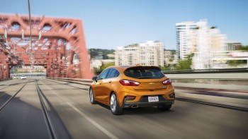2017 Chevrolet Cruze Hatchback on road