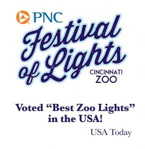 PNC Festvival of the lights cincinatti zoo