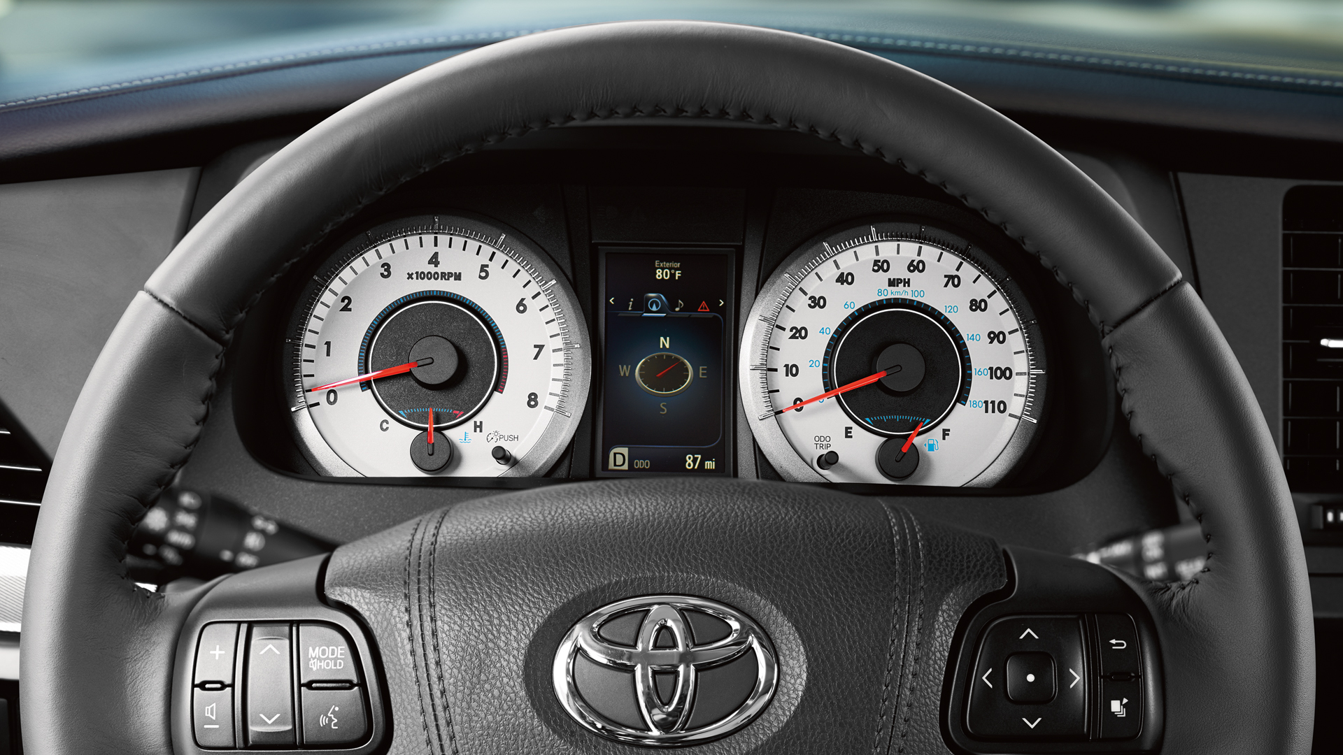 Toyota Sienna Steering Wheel Controls. Toyota Sienna Interior