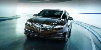 2016 Acura TLX rounding curve