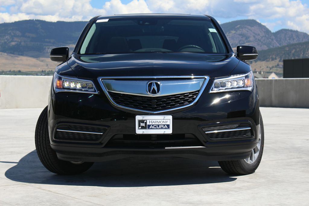 Crystal Black Pearl 2016 Acura MDX Navigation