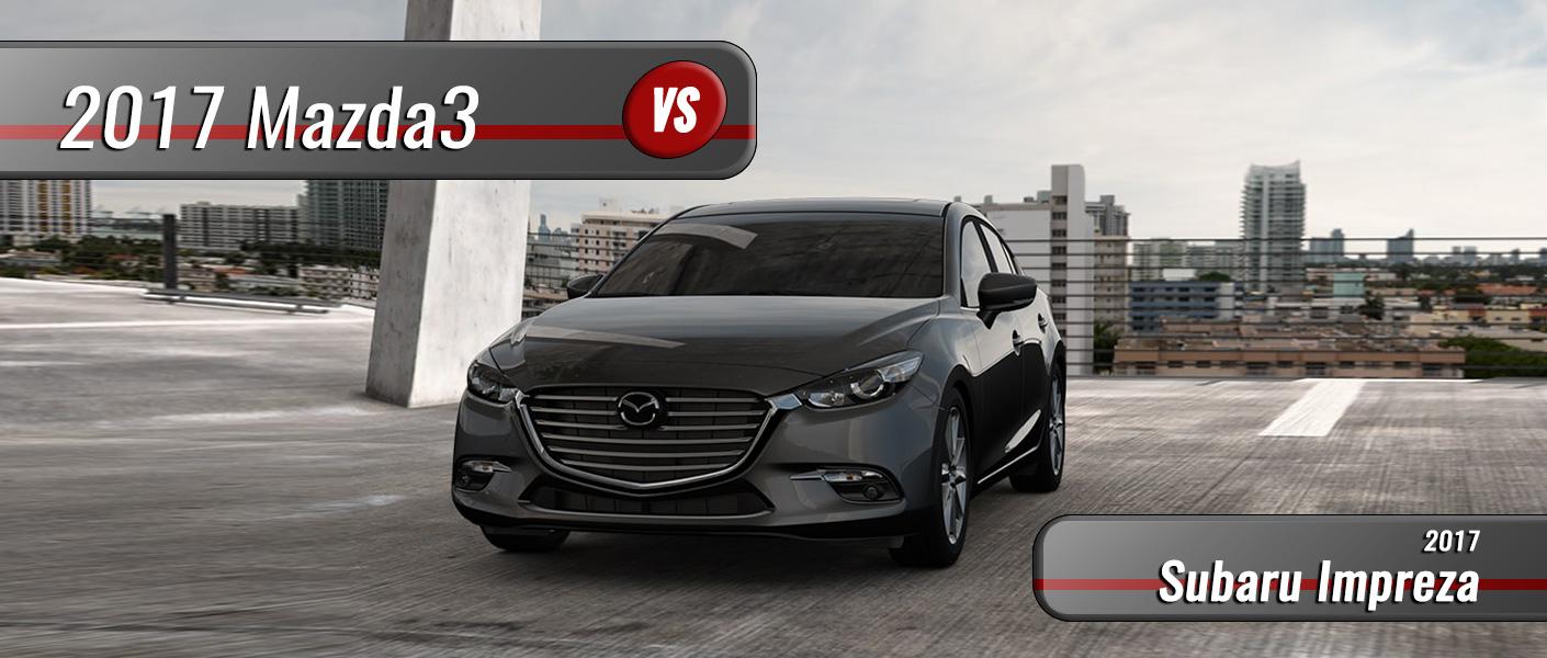 2017 Mazda3 Sedan vs. 2017 Subaru Impreza Clermont FL