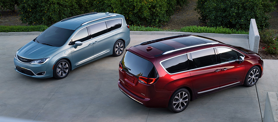 2017 Chrysler Pacifica models on display