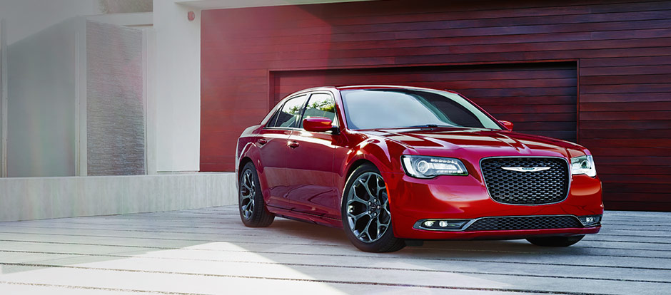 red 2016 Chrysler 300 parked