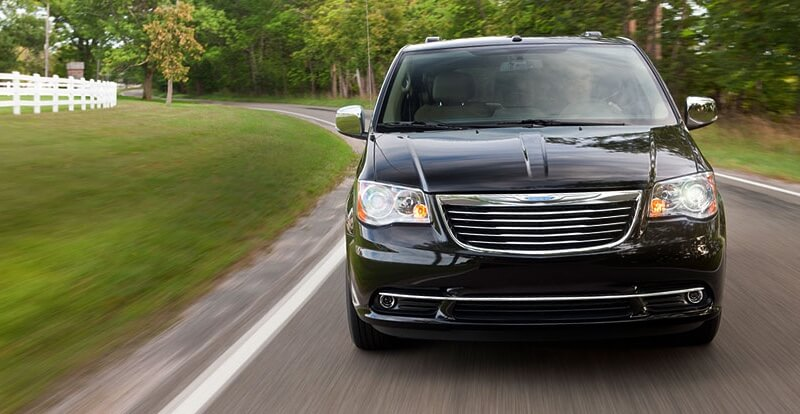 2016 Chrysler Town & Country on the road