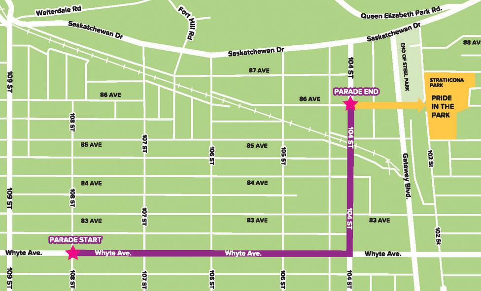 Edmonton Pride 2015 Parade Map