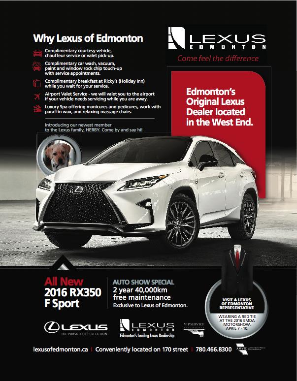 Lexus 2016 Edmonton Motorshow