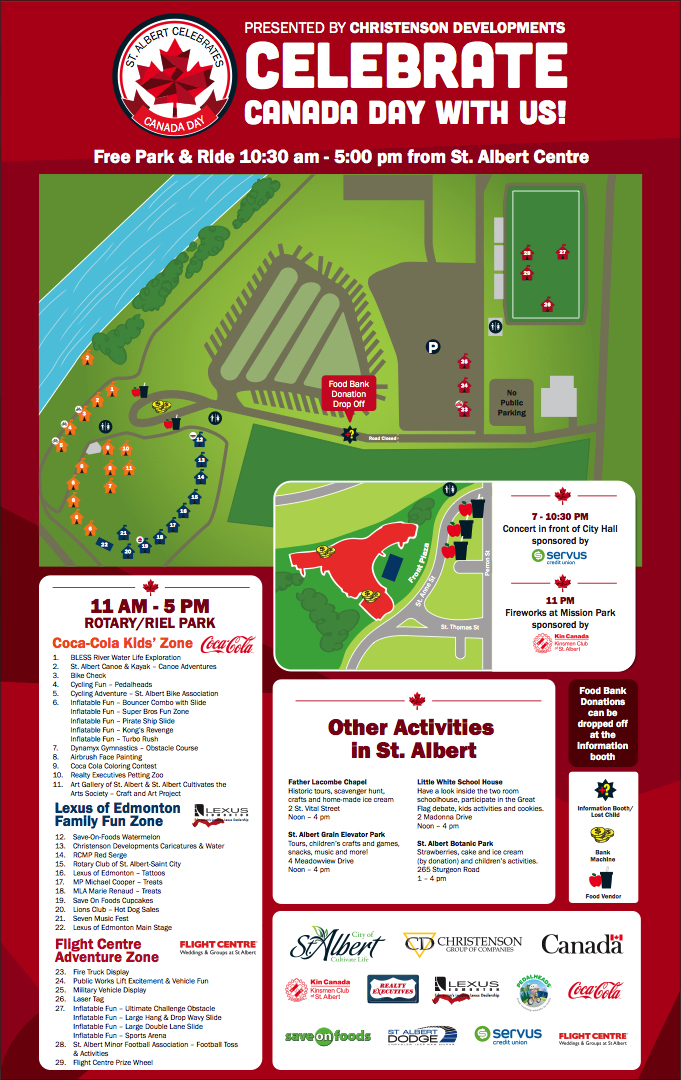 St Albert Canada DAy Map