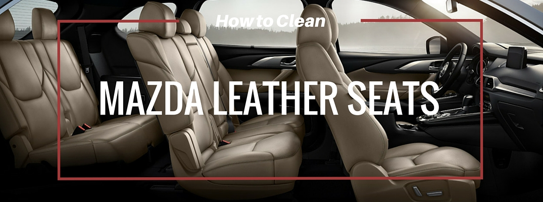 Clean Mazda Leather Car Seats