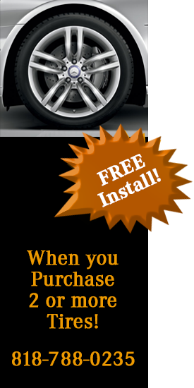 Free Installation of Tires