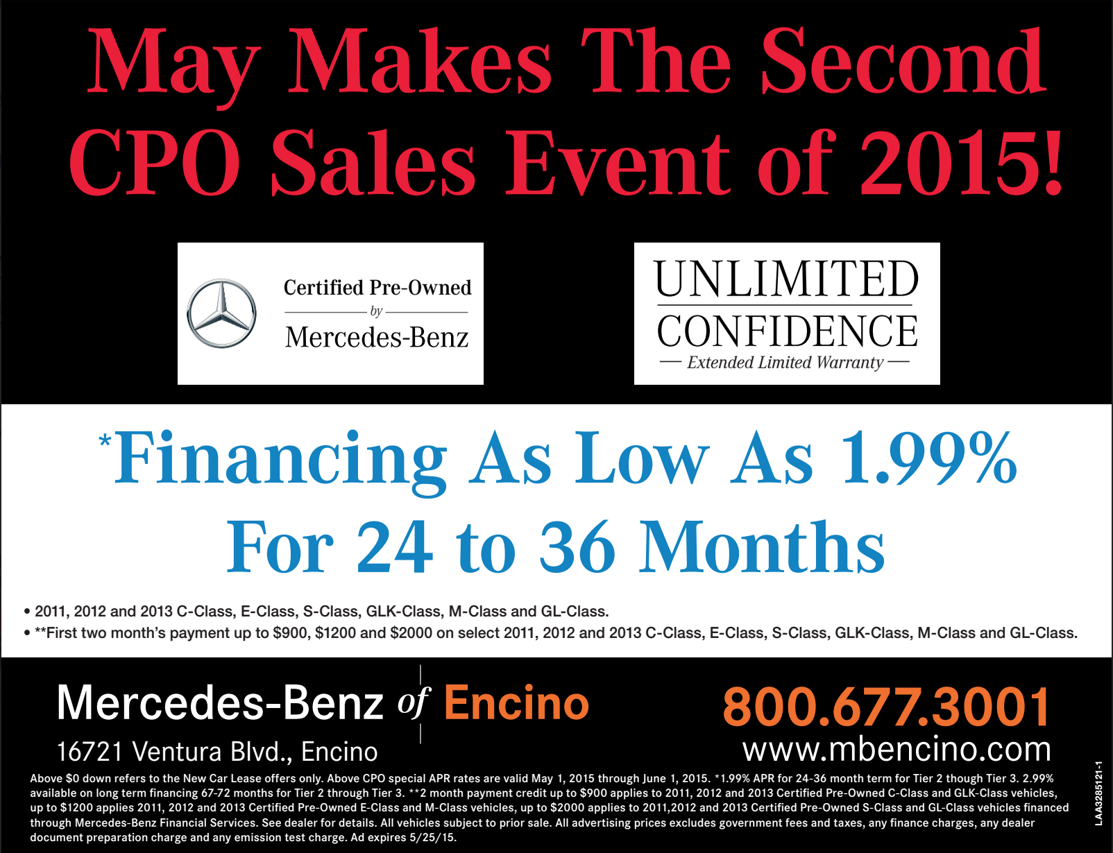 Mercedes Benz for Sale in Los Angeles — Memorial Day Sales Event for