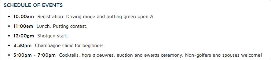 rsf golf schedule