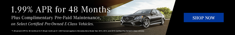 CPO E-Class 1.99% APR for 48 Months