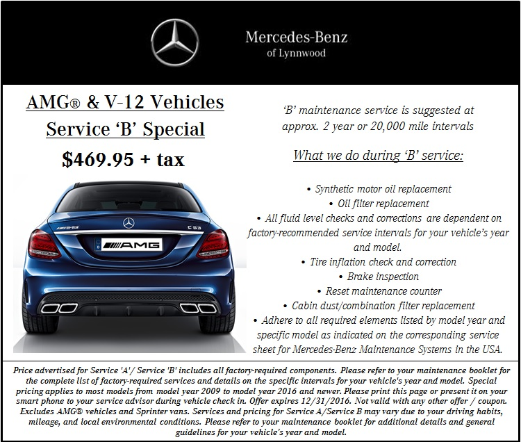 Auto service specials near everett mercedes benz of lynnwood for Service coupons for mercedes benz