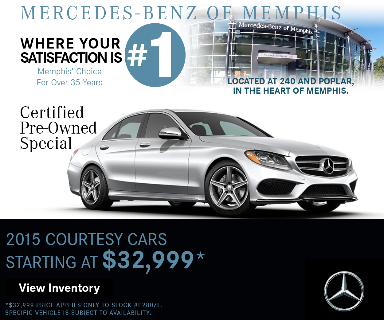 2015 courtesy car specials mercedes benz of memphis for Mercedes benz roadside assistance phone number