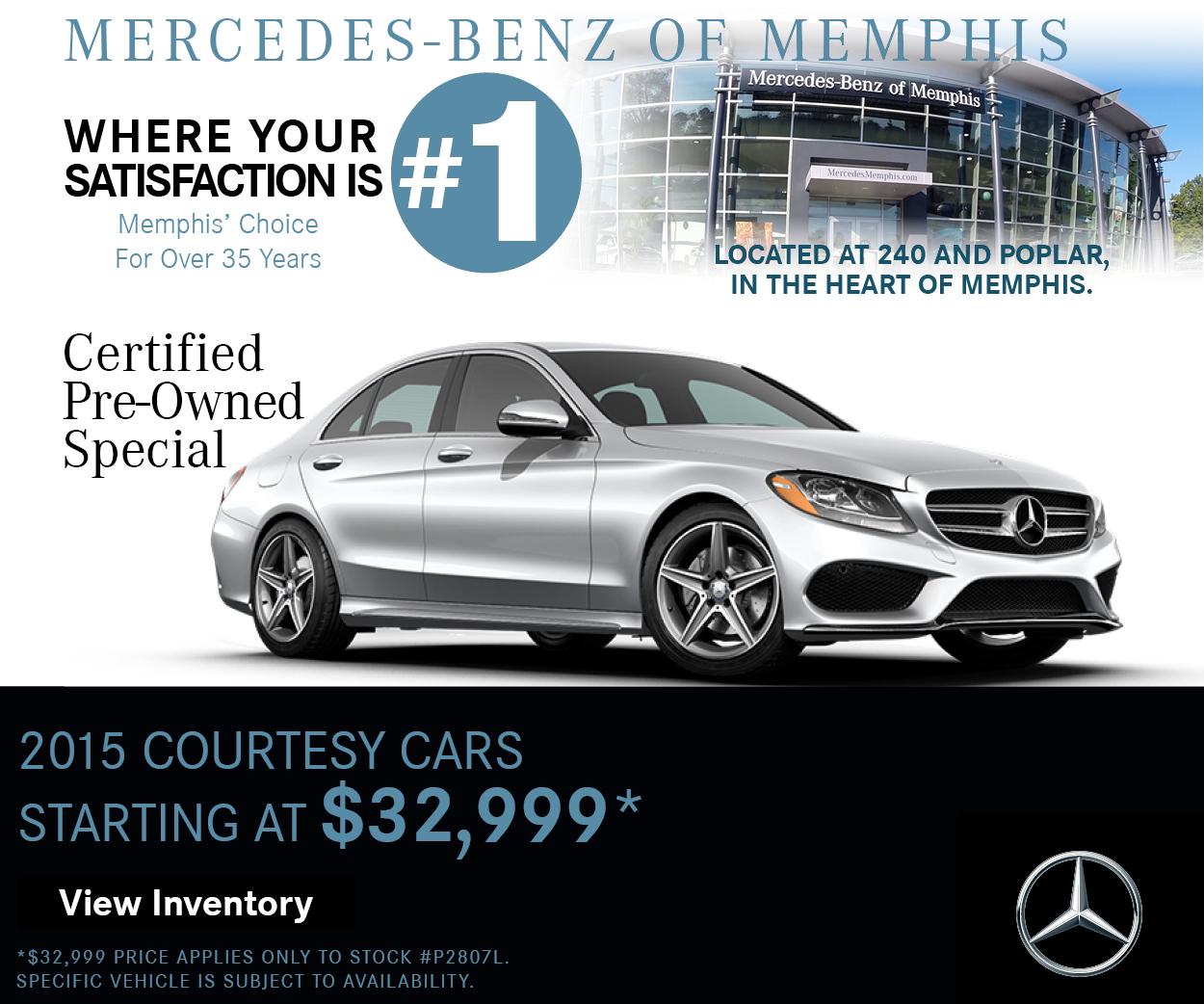 2015 courtesy car specials mercedes benz of memphis for Mercedes benz specials