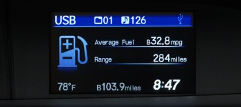 Honda Civic HF MPG Display
