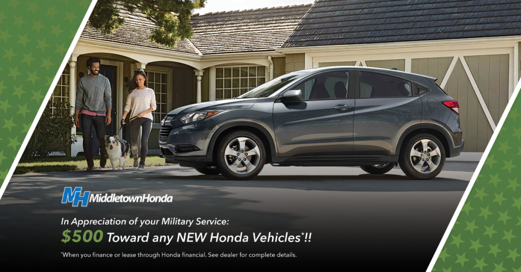 The Honda Military Appreciation Offer Middletown Honda