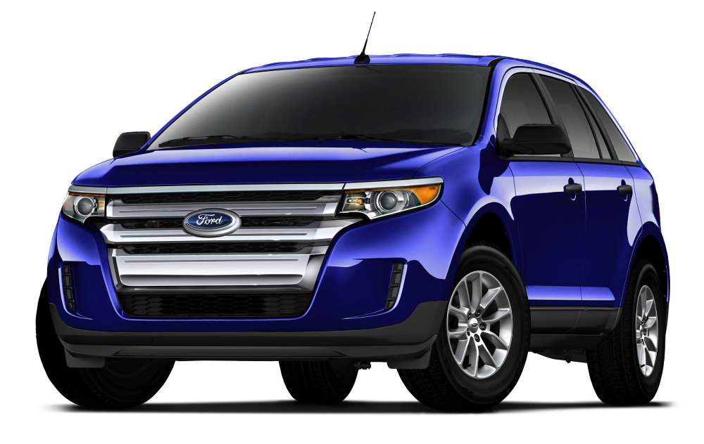 2015 Ford Edge model on white