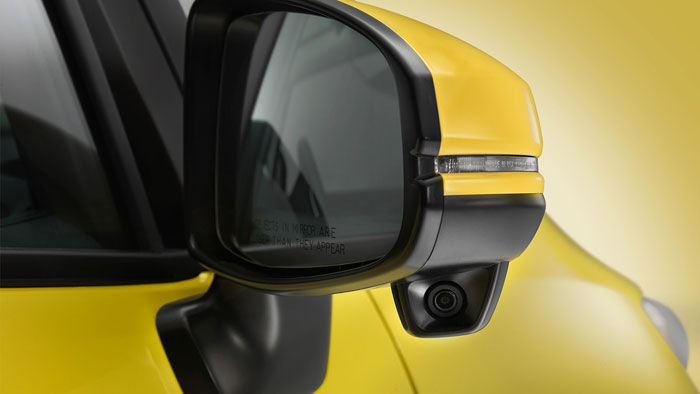 2016 Honda Fit side mirror up close